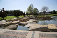Landscapes design  in nice Hall Park Frisco TX. Modern landscapes design in Hall Park Frisco TX USA Stock Images