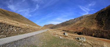 Landscapes of France: French Alps, mountain road in Savoy Royalty Free Stock Image