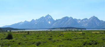 Landscapes of grand teton national park Stock Images