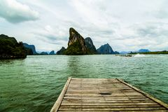 Landscapes of harbour bridge, Phang Nga National Park in Thailand Stock Image