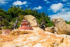 Landscapes on Hon Do island in the sea near Nha Trang city, Vietnam Royalty Free Stock Photography