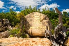 Landscapes on Hon Do island in the sea near Nha Trang city, Vietnam Royalty Free Stock Photo