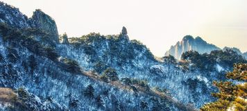 Landscapes of the Huangshan Mountain in China stock image