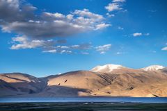 Landscapes of India country. Mountains during a sunset or sunrise with golden sun. Himalayas amazing views. Indian Himalayas. Jam. Mu and Kasmir state royalty free stock photography