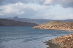 Landscapes of the Isle of Skye. In the cloudy day, located in Scotland, UK Royalty Free Stock Photography