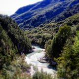 Landscapes in italy. Mountains dans river Royalty Free Stock Images