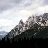 Landscapes in italy. Mountains and forest Royalty Free Stock Images