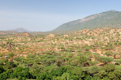 Landscapes from Kenya on the way to the Turkana lake Stock Photo