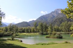 Landscapes in italy. Landscapes and lake in italy Stock Photo