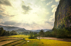 Landscapes in Laos Stock Image