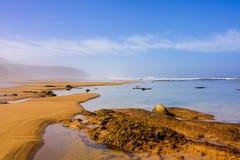 Legzira beach Morrocco stock photos
