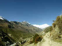 Landscapes in Manang Royalty Free Stock Image