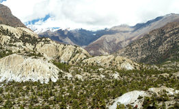 Landscapes in Manang Royalty Free Stock Photos