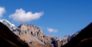 Landscapes in Manang Stock Image