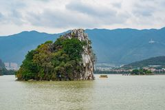 Landscapes, mountains around Seven-star Crags Scenic Area. At Zhaoqing, China stock photo