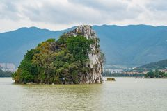 Landscapes, mountains around Seven-star Crags Scenic Area. At Zhaoqing, China stock images