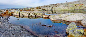 Landscapes in mountains. Norway Royalty Free Stock Photography