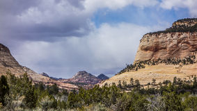 Landscapes near abra kanabra and zion national park in utah Royalty Free Stock Image