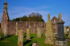 Landscapes Of Scotland - Ruined Church Building In Blackford Stock Photos
