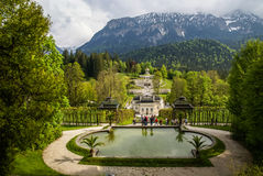 Landscapes in the park Linderhoff, Bavaria, Germany Royalty Free Stock Images