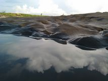 Landscapes puddle of sea water. Puddle of sea water Stock Photo