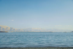 Landscapes of pure Dead Sea Royalty Free Stock Photo