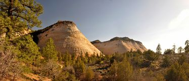 Checkerboard Mesa at Zion National Park. Landscapes seen at the exit of zion national park Royalty Free Stock Image