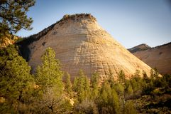 Checkboard Mesa at Zion National Park Stock Photos