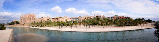Panoramic View of Palma de Mallorca. Landscapes seen in palma de mallorca Stock Image