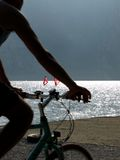 Landscapes series - cycle on garda lake Stock Images
