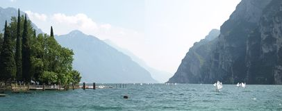 Landscapes series - garda lake Stock Images