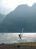 Surf-Riva del Garda lake Italy Royalty Free Stock Photo
