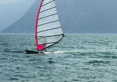 Surf-Riva del Garda lake Italy stock photos