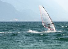 Surf-Riva del Garda lake Italy Royalty Free Stock Photography