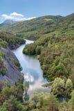 Serre-Poncon lake - Alpes - France Royalty Free Stock Photo