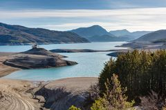 Serre-Poncon lake - Alpes - France Royalty Free Stock Images