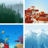 Landscapes set Royalty Free Stock Image