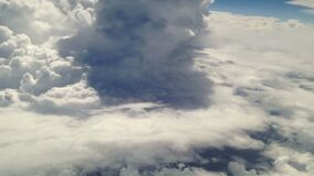 Landscapes Sky and cloud view from inside of plane