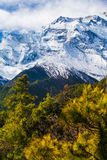 Landscapes Snow Mountains Nature Morning Viewpoint.Mountain Trekking Landscape Background. Nobody photo.Asia Vertial Stock Photography
