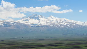 Landscapes and Snowy Peaks Mountains of Armenia. Time lapse stock video