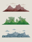Landscapes. Three different abstract landscapes royalty free illustration