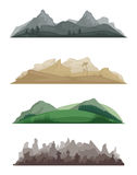 Landscapes. Three different abstract landscapes Royalty Free Stock Photos
