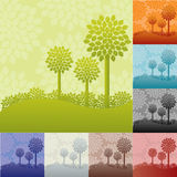 Landscapes with trees Stock Photos