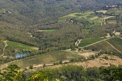Landscapes of Tuscany in Radda Chianti royalty free stock photos