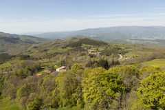 Landscapes of Tuscany. View from Mount Verna. Italy. Royalty Free Stock Photography