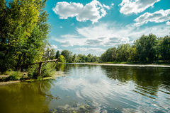 Landscapes of Ukraine. Baranivka village Royalty Free Stock Image