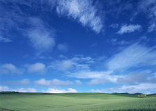 Landscapes Under The Great Blue Sky Royalty Free Stock Photo