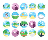 Landscapes Vector Icons 1 Royalty Free Stock Photography