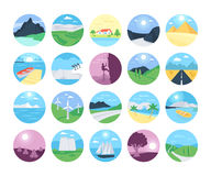 Landscapes Vector Icons 2 stock image