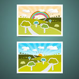 Landscapes Vector Illustrations Stock Image